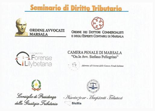 Seminario di diritto Tributario –  Marsala 8-9 aprile 2016