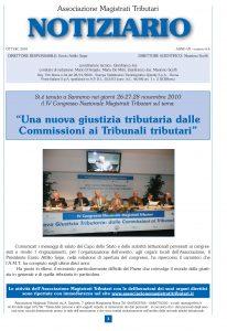 Notiziario anno VII n. 4 – 6 ottobre – dicembre 2010