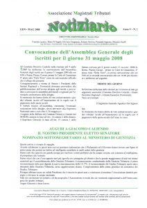 Notiziario anno V n.1 gennaio – maggio  2008