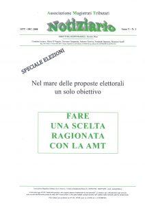 Notiziario anno V n. 2 ottobre – dicembre 2008