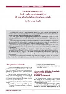 Giustizia tributaria: luci, ombre e prospettive di una giurisdizione fondamentale